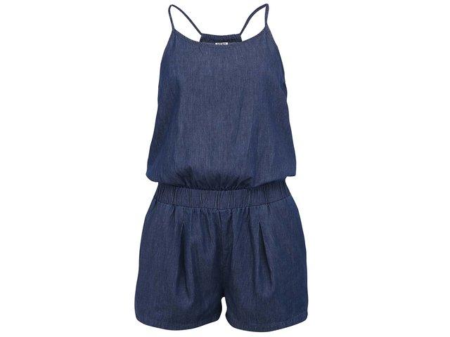 Tmavě modrý krátký denimový overal Vero Moda Just Easy