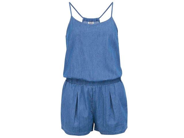 Modrý krátký denimový overal Vero Moda Just Easy