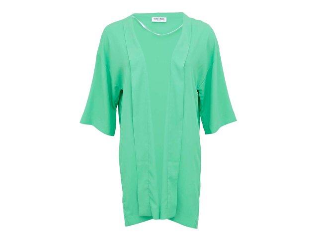 Zelené kimono s tříčtvrtečními rukávy Vero Moda Mally