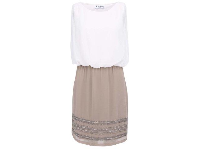Krémovo-béžové šaty Vero Moda Sister Love