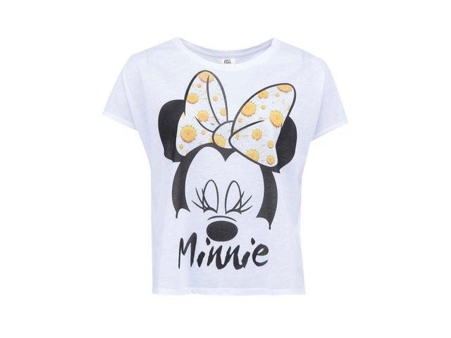 Bílé tričko s Minnie Mouse Vero Moda Mouse