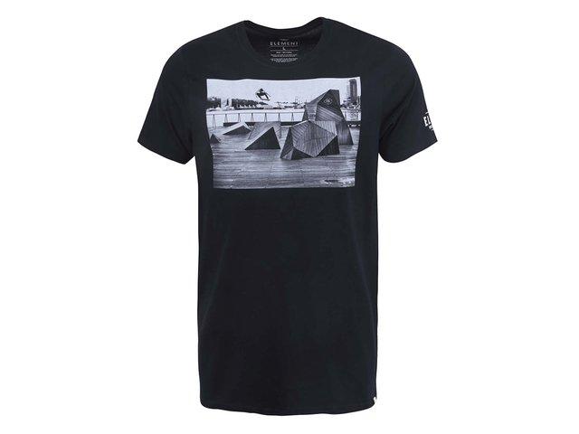 Černé triko s potiskem Element Jake Darwen
