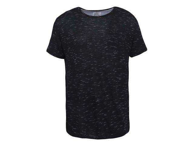 Černé žíhané triko D-Struct Barkley