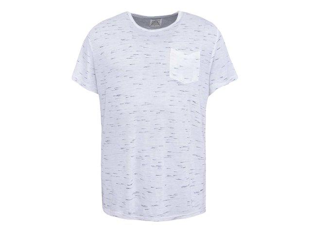 Bílé žíhané triko D-Struct Barkley