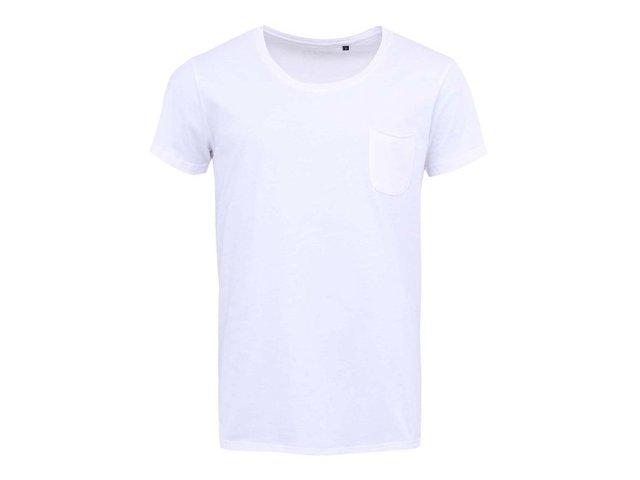 Bílé triko s náprsní kapsou !Solid