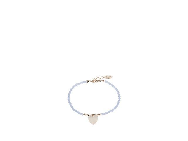Modrý korálkový náramek s přívěskem srdce Orelia