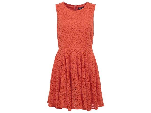 Oranžové krajkované šaty Apricot