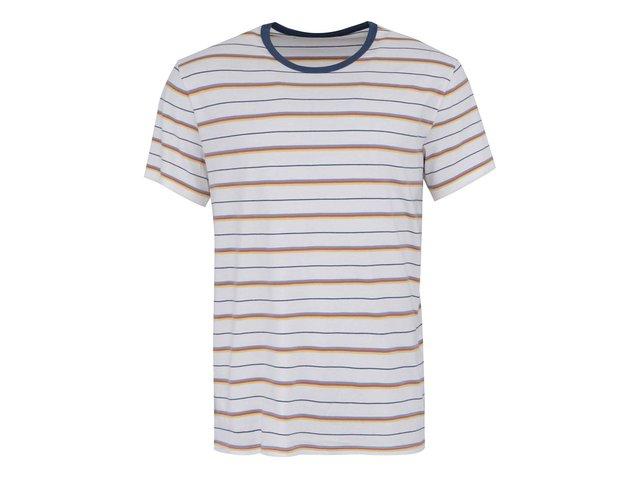 Bílé pánské pruhované triko s krátkým rukávem Levi's® Crew