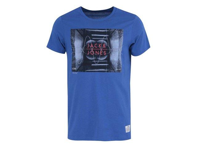 Modré tričko Jack & Jones Coshock