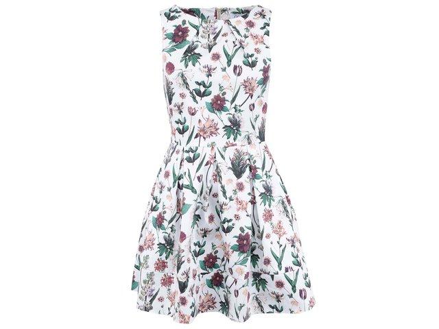 Bílé květované šaty Closet