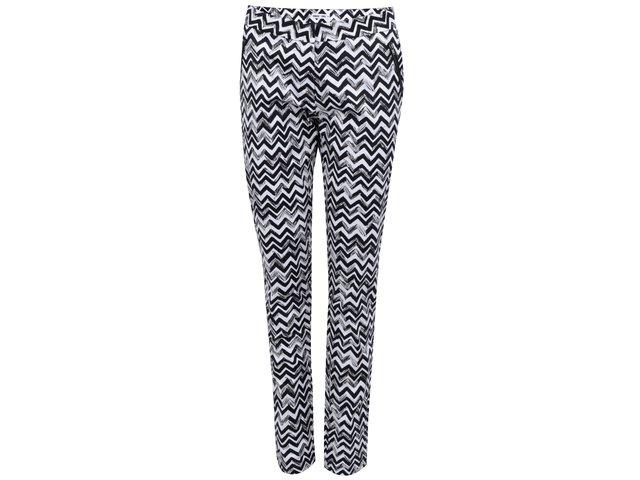 Černo-bílé vzorované kalhoty GINGER+SOUL