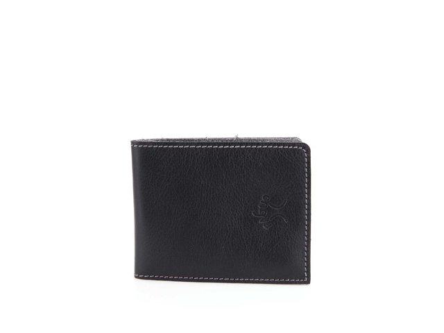 Černá kožená pánská peněženka Faguo Wallet 7
