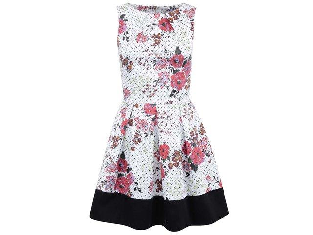 Bílé šaty s červenými květinami Closet
