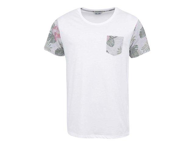 Bílé triko s kapsičkou ONLY & SONS Logan