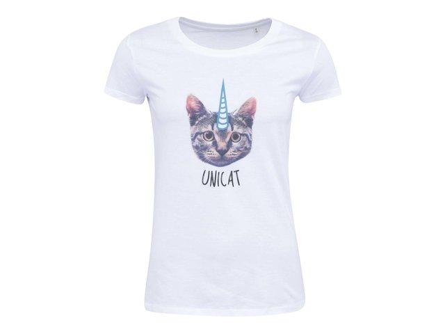 Bílé dámské tričko ZOOT Lokál Unicat
