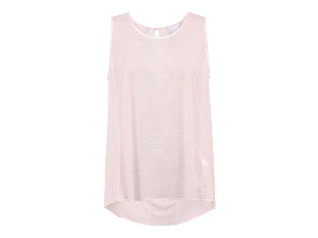 Růžový top s nařasenými zády Vero Moda Parrot