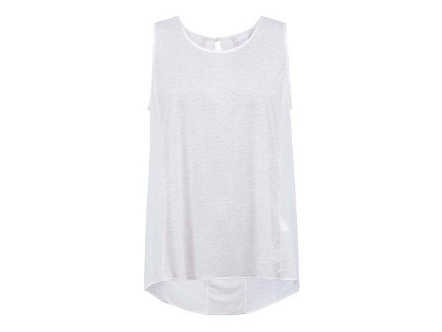 Bílý žíhaný top s nařasenými zády Vero Moda Parrot