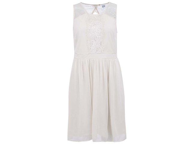 Béžové šaty s krajkou Vero Moda Sissy