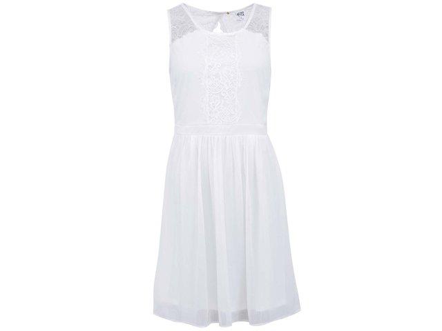Bílé šaty s krajkou Vero Moda Sissy