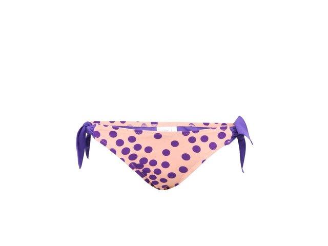 Meruňkový spodní díl plavek s puntíky a zavazováním Vero Moda Dotty