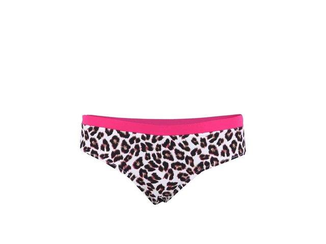 Leopardí spodní díl plavek s růžovým lemem Vero Moda Lulu