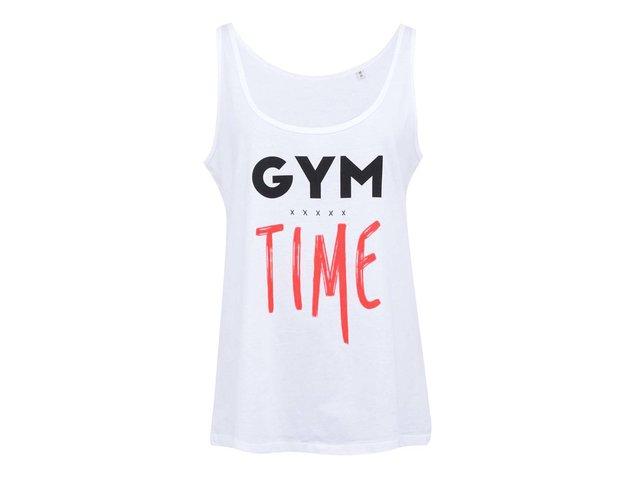 Bílé dámské tílko ZOOT Lokál Gym Time