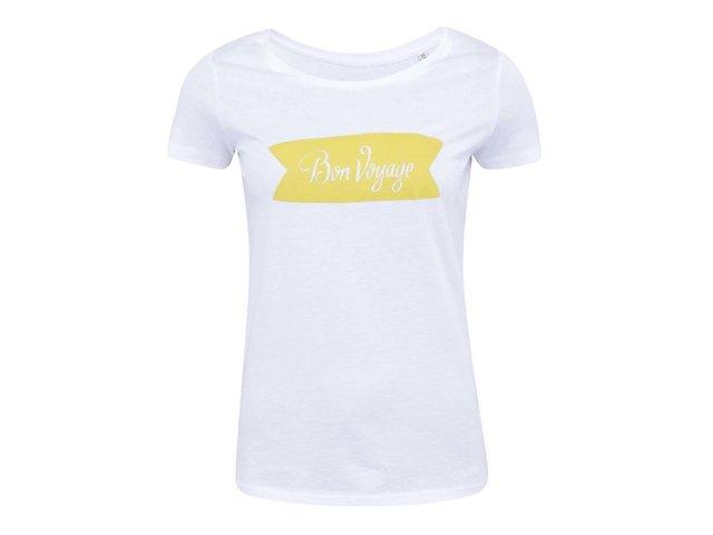 Bílé dámské tričko ZOOT Lokál Bon Voyage