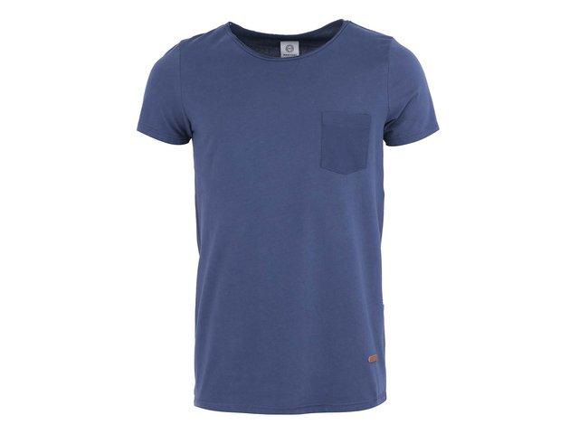 Tmavě modré triko s kapsou Bertoni