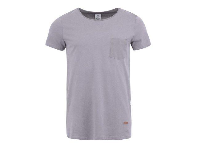 Šedé triko s kapsou Bertoni