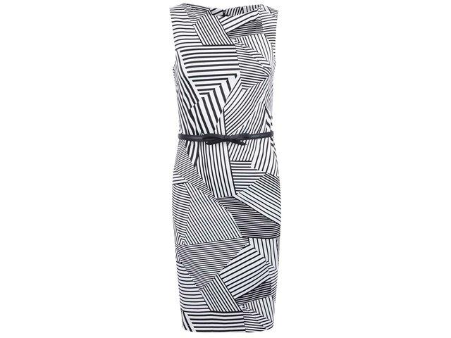 Černo-bílé vzorované šaty Paper Dolls
