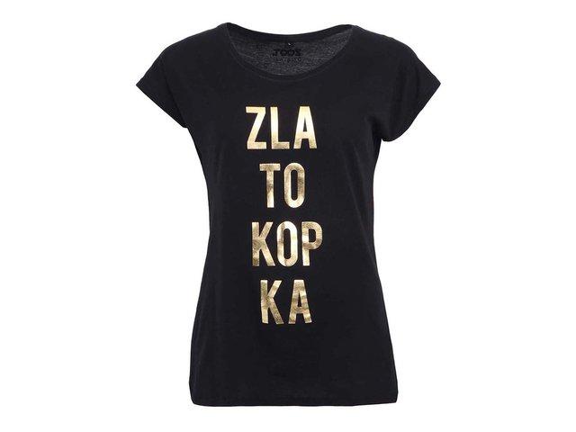 Černé dámské tričko ZOOT Originál Zlatokopka