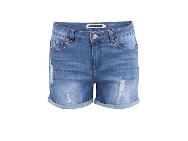 Světle modré džínové kraťasy Noisy May Lock