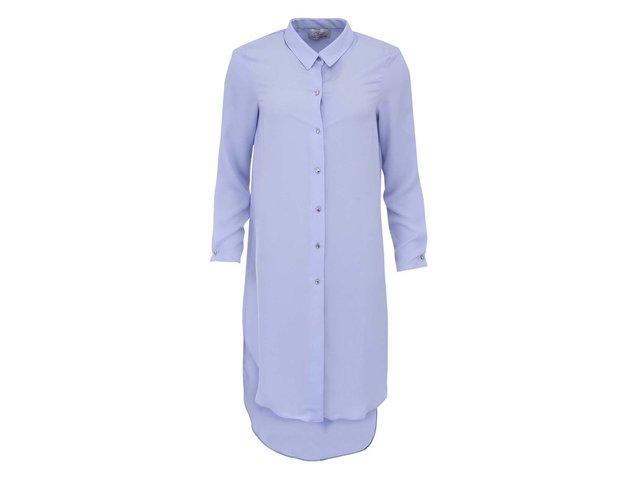Dlouhá světle modrá košile s rozparkem na zádech Closet