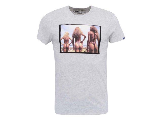 Šedé pánské triko s potiskem Vans Baked Buns