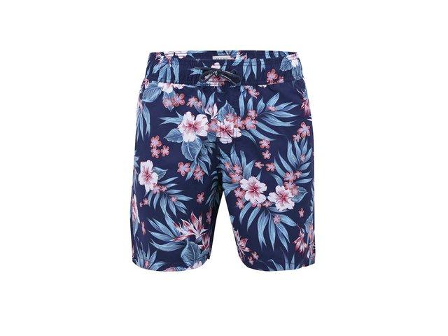 Tmavě modré plavky s havajskými květy Blend