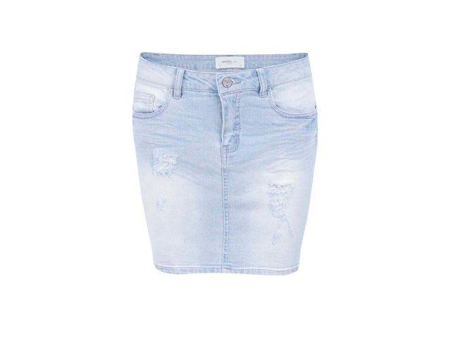 Světle modrá džínová sukně Vero Moda Nice