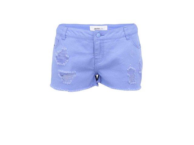 Fialovomodré džínové kraťasy Vero Moda Paula