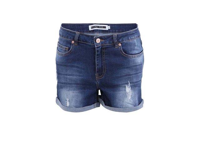 Tmavě modré džínové kraťasy Noisy May Lock