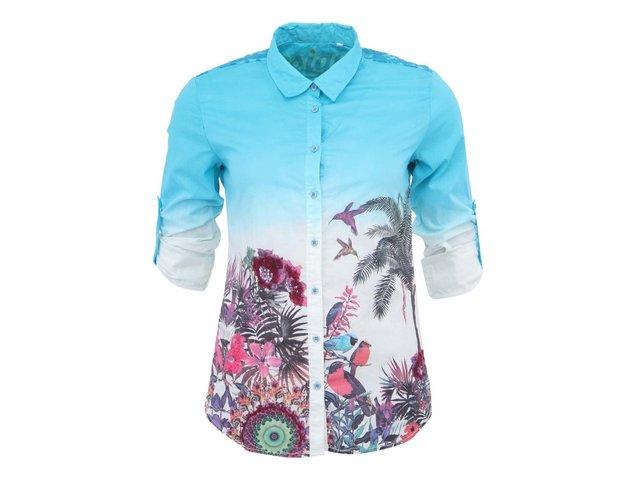 Dvojbarevná košile s potiskem Desigual Selva