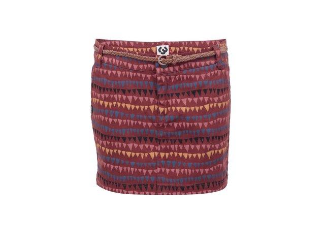 Červenohnědá sukně s barevným vzorem Ragwear Tanna