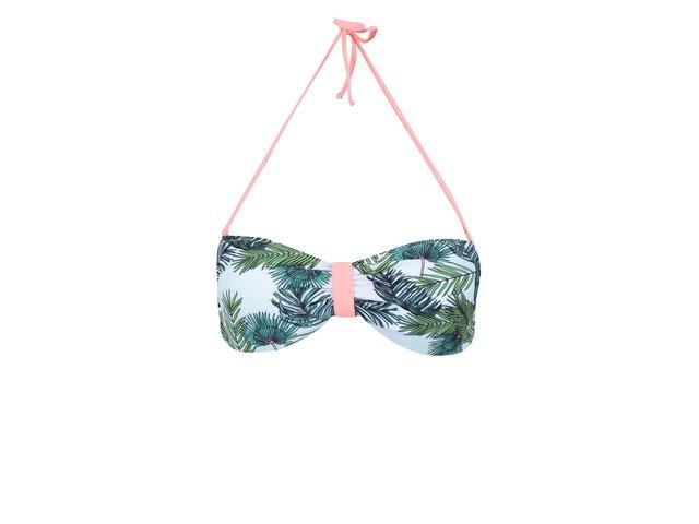 Tyrkysový vrchní díl plavek s motivem palmy Vero Moda Pam
