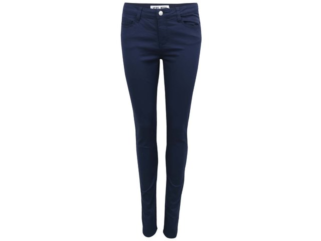 Tmavě modré slim kalhoty Vero Moda Super Hot