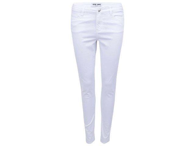 Bílé slim kalhoty Vero Moda Super Hot
