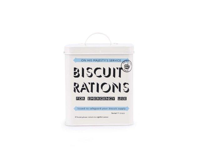 Béžová plechovka Home Front Biscuit Tin