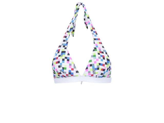 Bílý vrchní díl plavek s barevnými kostičkami 69SLAM Pixel square