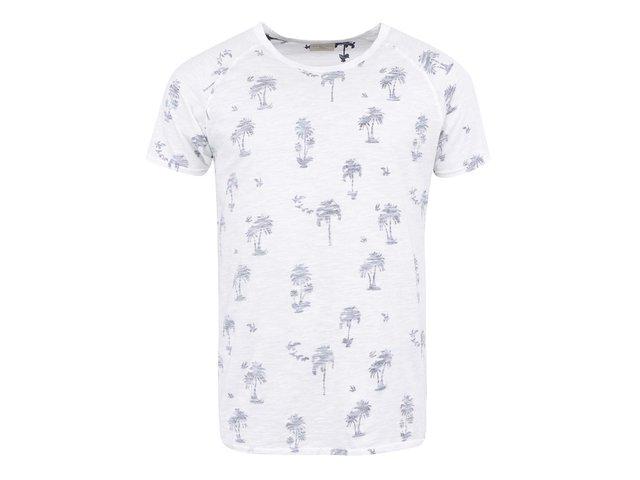 Bílé triko s efektem naruby Selected Palm