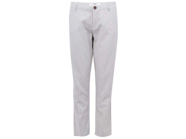 Šedé plátěné kalhoty ONLY Cigarette