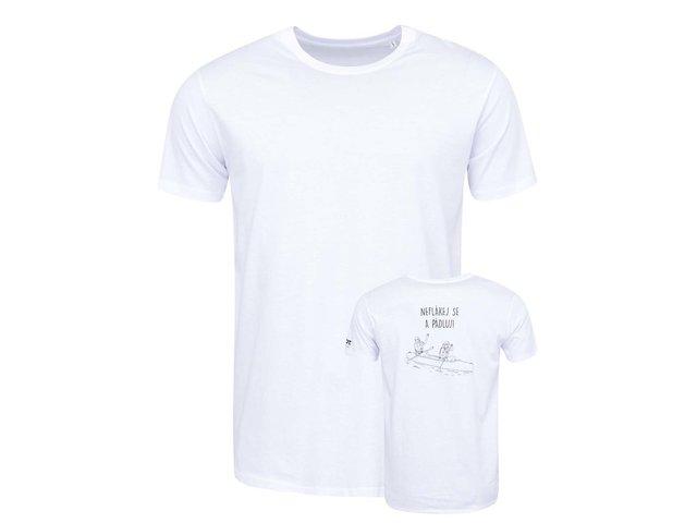 Bílé pánské triko ZOOT Originál Neflákej se a pádluj