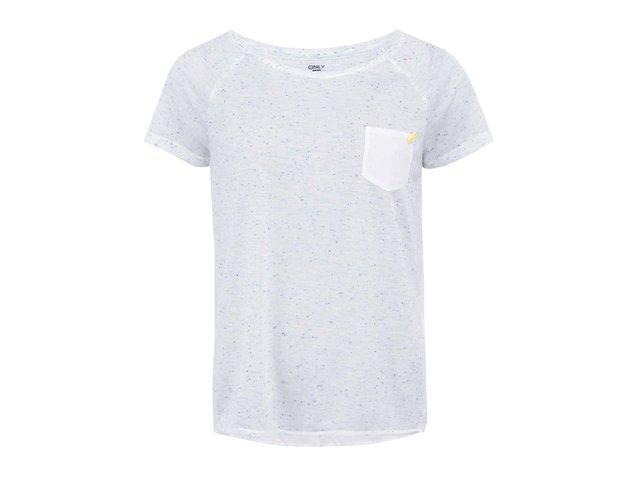 Krémovo-modré tričko s barevnými