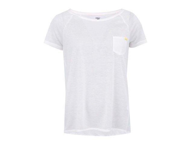 Krémové tričko s barevnými